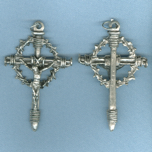 Crown of Thorns Crucifix ~SP~ 2 1/8 in.