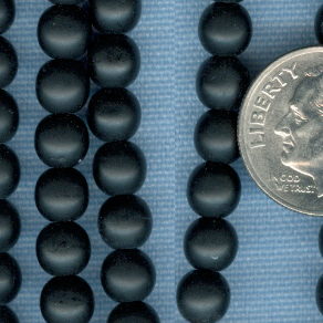 Custom Jet Black (Matte Finish) 6mm Round Czech Glass Rosary