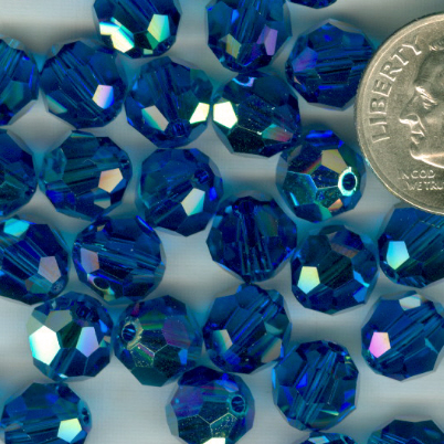 Custom Capri Blue AB Swarovski Crystal Rosary ~ 8mm Beads