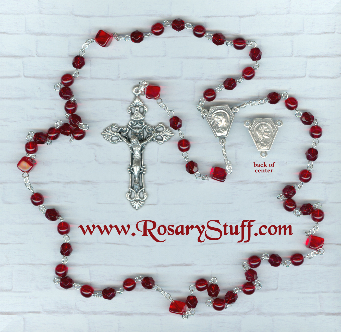 Birthstone: July Czech Glass Rosary ~ RUBY