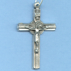 Basic inlaid Crucifix 1 1/2 in.