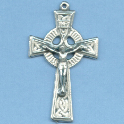 Celtic Traditional with Fancy Back Crucifix 1 5/8 in.