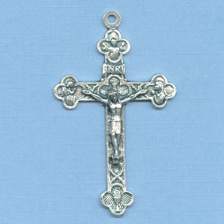 Eucharistic/Trinity Small Crucifix 1 1/2 in.