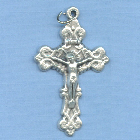 Fancy Solid Filigree Crucifix (Small) 1 1/2 in