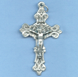 Fancy Solid Filigree Crucifix 2 in.