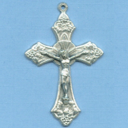 Grapes Small Crucifix 1 5/8 in.