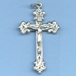 Ornate Awareness Ribbon Crucifix 1 15/16 in.