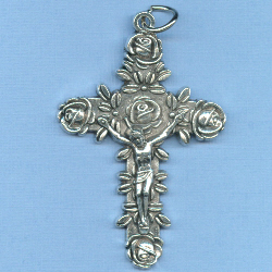 Rose Crucifix 2 in.