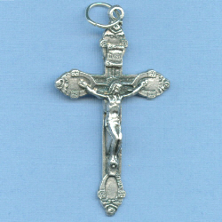 Rose Tipped Crucifix 1 3/4 in.