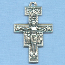 San Damiano Small Crucifix 1 1/8 in.
