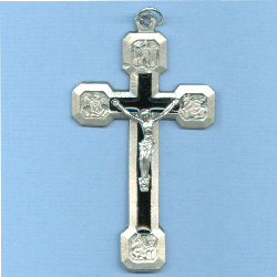 Via Crucis with Stations On Back Crucifix 2 1/2 in.