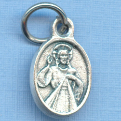 Divine Mercy with St. Faustina Bracelet Medal 1/2 in.