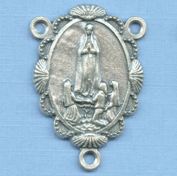 Fatima Scalloped Shell Rosary Center 1 1/4 in.