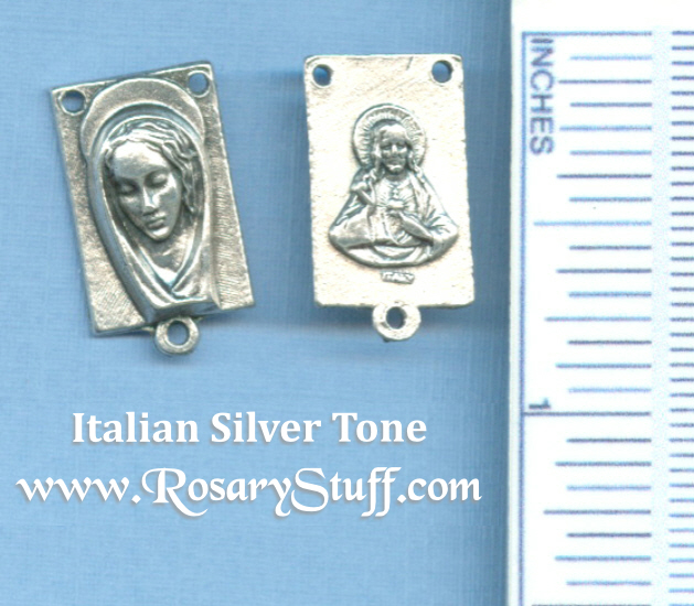 Mary Rectangle #2 Rosary Center 3/4 in.