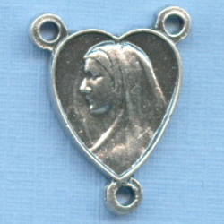 Mary Heart Shaped Chapel Rosary Center 5/8 in.