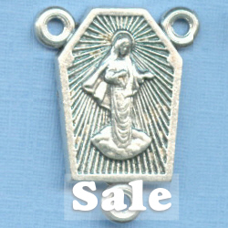 Medjugorje Shaped Rosary Center 7/8 in.
