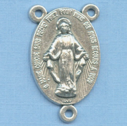 Miraculous Medal Large Rosary Center 1 in.
