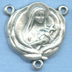 St. Therese Earth Relic Rosary Center 3/4 in.