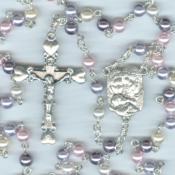 Swarovski Purity Mix Multi-Colored Crystal Pearl Rosary