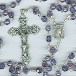 Birthstone: February Czech Glass Rosary ~ AMETHYST