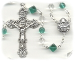 Birthstone: May Czech Glass Rosary ~ EMERALD