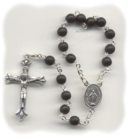 Hand Rosary ~ Matte Jet Black Single Decade