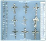 Custom Crucifix Choices: Hearts & Flowers