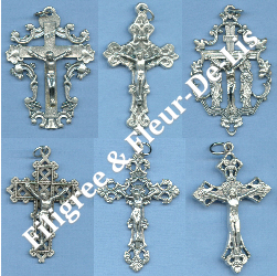 Custom Crucifix Choices: Filigree & Fleur-De-Lis
