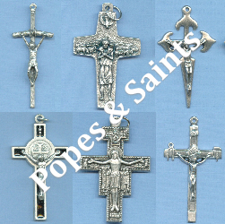 Custom Crucifix Choices: Popes & Saints