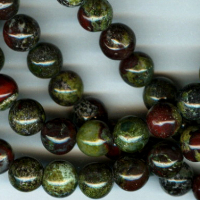 Custom Dragon Blood Jasper 6mm Stone Rosary