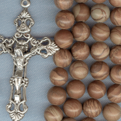 Custom Tiger Jasper 8mm Stone Rosary