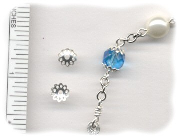 Bead Caps for your Custom Rosary ~ Silver Plate