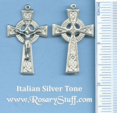 Celtic Traditional with Fancy Back Crucifix 1 3/4 in.