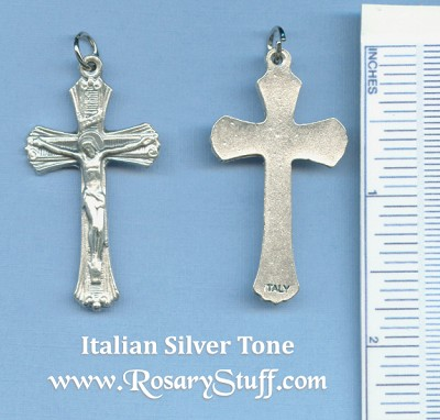 Striped Crucifix 1 3/4 in.