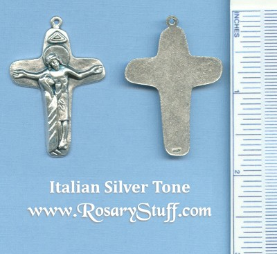 Mother Mary At The Cross Crucifix 1 3/4 in.