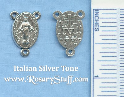 Miraculous Medal Rosary Center 5/8 in.