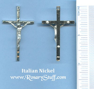 Wavy Large Crucifix 1 7/8 in.