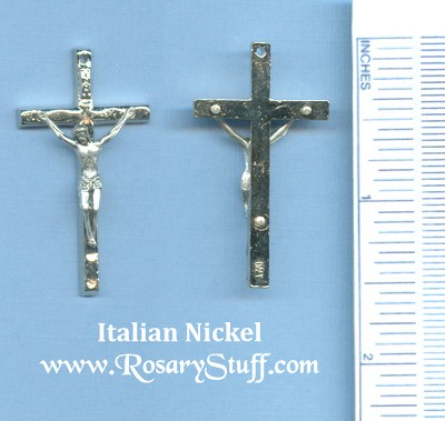 Wavy Small Crucifix 1 1/2 in.