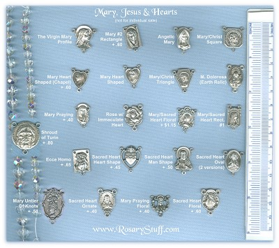 Custom Center Choices: Mary/Jesus & Sacred Hearts