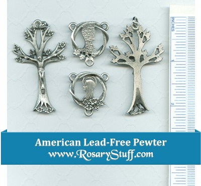 Tree of Life Rosary Set ~ American Pewter