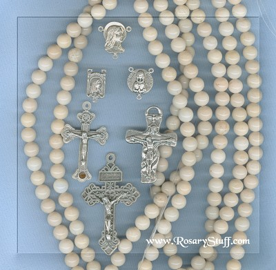 Custom River Stone 8mm Stone Rosary