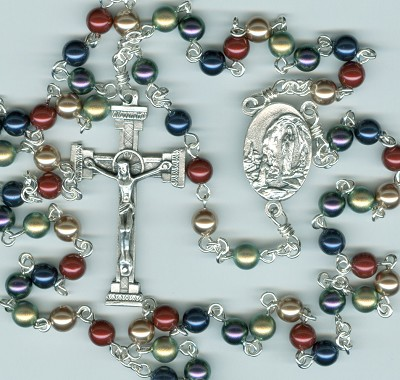 Swarovski Multi-Colored Jewel Crystal Pearl Rosary